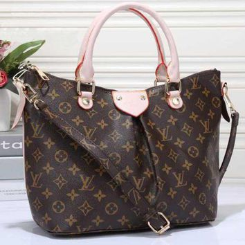 LMFON Tagre LV Women Shopping Leather Tote Crossbody Satchel Shoulder Bag