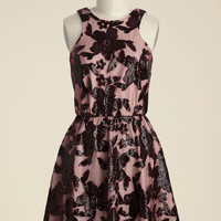 Windflower Waltz Sequin Dress in Burgundy | Mod Retro Vintage Dresses | ModCloth.com