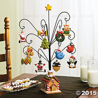 Gingerbread Tree with Ornaments