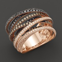 Multi-Color Diamond Ring in 14K Rose Gold, 1.75ct. t.w.