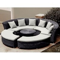 Home Infatuation Circular Outdoor Sofa at HomeInfatuation.com.
