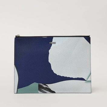 Kenzo Paper Print Cube Embossed Pouch - WOMEN - JUST IN - Kenzo - OPENING CEREMONY