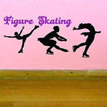 "Design with Vinyl JER 286 1 Pro Ice Skater World Professional Figure Skating Championships Quote Picture Art Vinyl Wall Decal Sticker, 10"" x 20"""