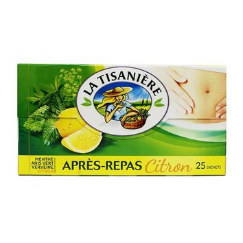La Tisaniere After-Dinner Lemon Mint Herb Tea, 1.3 oz (37.5 g)