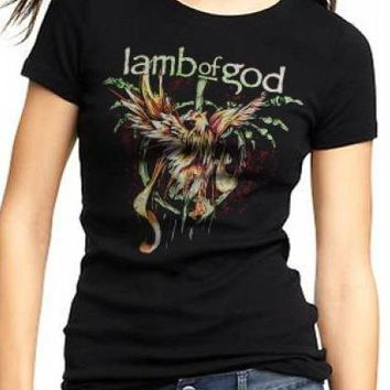 Lamb Of God Girls T-Shirt - Wrath Of The Phoenix