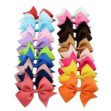 Boutique Baby Girl's Hair Bows Hairpin Alligator Grosgrain Ribbon Bow Clip Color