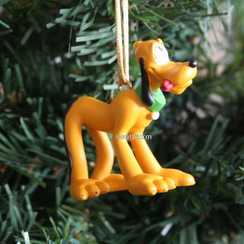 Licensed cool Disney Mickey Mouse Clubhouse Carwash Pluto Dog Christmas Ornament PVC Figure