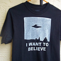X-files I want to Believe T shirt Mens or Womens (S,M,L,XL,2XL)