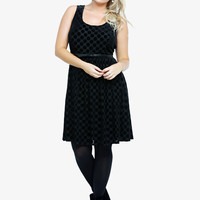 Flocked Polka Dot Dress | Torrid