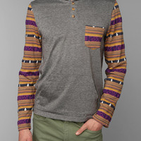 Koto Patterned-Pocket Hoodie