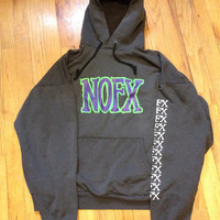 Vintage 1990s Punk NOFX Hoodie Band Sweatshirt Punk In Drublic Tour Fat Wreck Chords