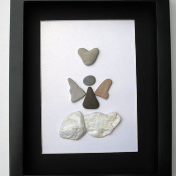 Special Edition Angel Design- Pebble Art - Angel Art