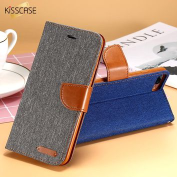 KISSCASE Book Flip Case For iPhone 5S SE 5G iPhone 7 X 6S Plus Cases Card Slot Wallet Holster Leather Cover For iPhone X 5S Case