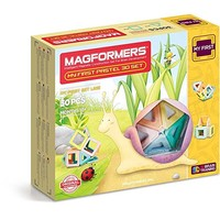 MAGFORMERS My First Pastel (30 Piece) Building Set, Rainbow