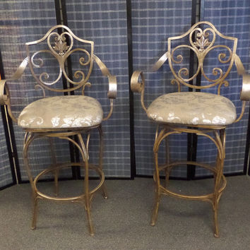 Pair of Neo-Classic Style Bar Height Chairs