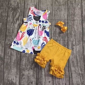 "Semi RTS Door Buster Sunday Chicken Party Tank 2pc Set ""FREE BOW"""