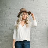Ivory High Neck Top