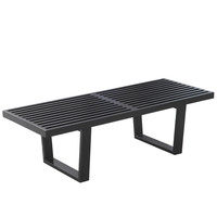 "Solid Wood Bench 48"", Black"