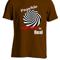 Psychic Warfare is Real T-Shirt Clutch X-Ray Vision Inspired Brown
