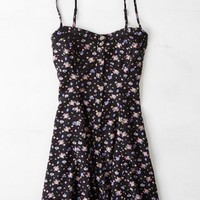 AEO Women's Floral Button Front Slip Dress