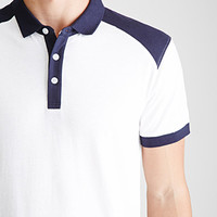Contrast-Paneled Polo