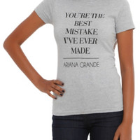 Ariana Grande Best Mistake Girls T-Shirt