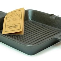 "10"" Cast Iron Square Grill Skillet"