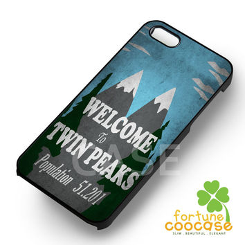 Welcome to twin peaks -ndh for iPhone 6S case, iPhone 5s case, iPhone 6 case, iPhone 4S, Samsung S6 Edge