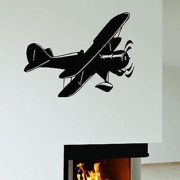 Wall Sticker Airplane Aviation Flying Sky Decor for Room Vinyl Decal Unique Gift (ig1145)