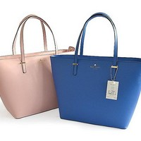 2018 Kate Spade New York Women Fashion Shopping PU Tote Handbag Shoulder Bag 2 Colors Pink Blue