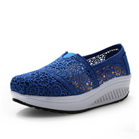 New Fashion Women Casual Shoes For Spring&Autumn Loafers Breathable light Slimming Walk Platform Women Shoes l165 35