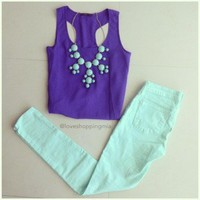 Trendy Clothing, Fashion Shoes, Women Accessories | Skinny Jeans in Lavender  | LoveShoppingMiami.com