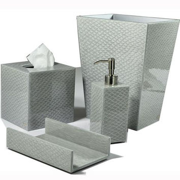 Mike and Ally Pacific Bath Accessories - Fine Silver