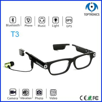 Smart glasses for driver with bluetooth sleep alarm function photo video phone music 720P HD Video