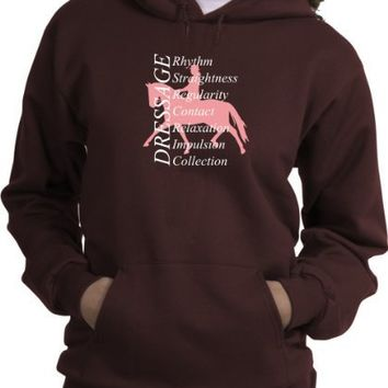 Dressage Training Horse Lovers Brown Hoodie
