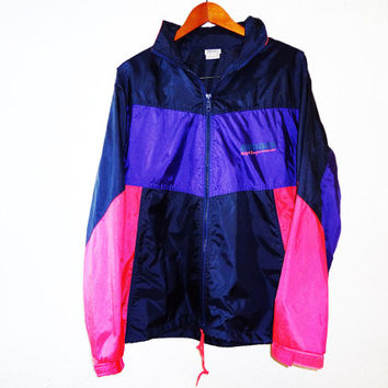 Vintage 90s Brooks Colorblock Windbreaker - large -