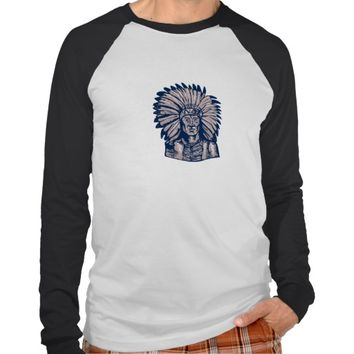 Native American Indian Chief Warrior Etching Shirts