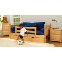 Maxtrix Kids Twin Daybed with Safety Rails & Trundle Bedroom Set - Maxtrix Bedroom Series - Baby & Kids' Furniture - Furniture