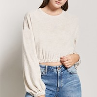 Balloon-Sleeve Crop Top