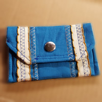 Blue Stripe Wallet