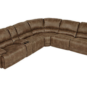 Stetson Ridge Brown 6Pc Reclining