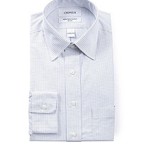 Cremieux Regular-Fit Spread-Collar Dress Shirt - White Navy