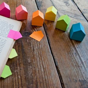SUCK UK Sticky House Page Markers, Various Colours