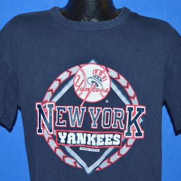 80s New York Yankees Champion Navy Blue t-shirt Extra-Large