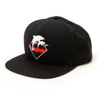 Pink Dolphin Splatter Waves Snapback Hat