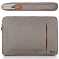 CaseCrown Nylon Pocket Sleeve Case (Mauve/Gray) for Apple MacBook Pro 13 Inch with 13 Inch Retina Display