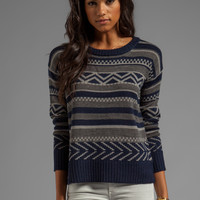 BB Dakota Addie Pattern Sweater in Navy