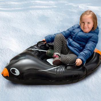 Penguin Inflatable Snow Boogie Sled