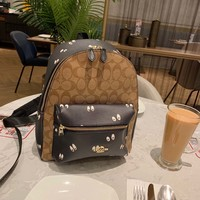 HCXX 19Oct 202 Coach Fashion Classic Casual Backpack Bag 25-32cm