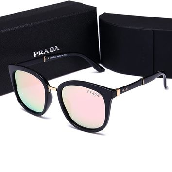 Prada Stylish Women Men Leisure Summer Sun Shades Eyeglasses Glasses Sunglasses Pink I-HWYMSH-YJ